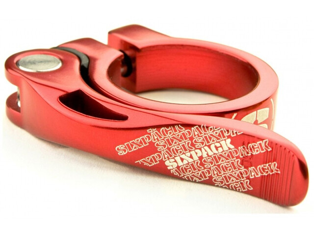 Sixpack Menace Saddle Clamp Ø34,9mm red